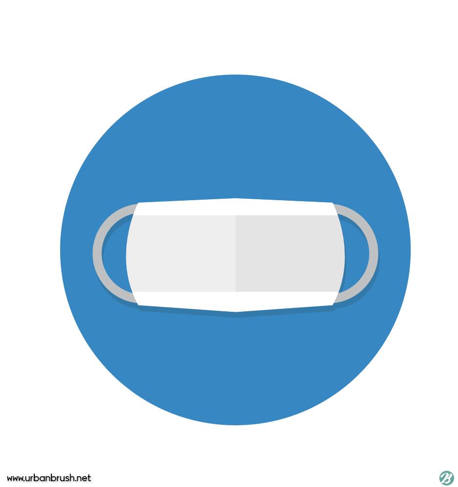 마스크 아이콘 일러스트 ai 무료다운로드 free mask icon download ...