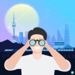 서울 야간 탐험 일러스트 ai 다운로드 download Seoul Night Exploration vector