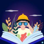책 탐험 일러스트 ai 다운로드 download book exploration vector