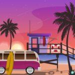 해변 여행 일러스트 ai 다운로드 download beach travel vector