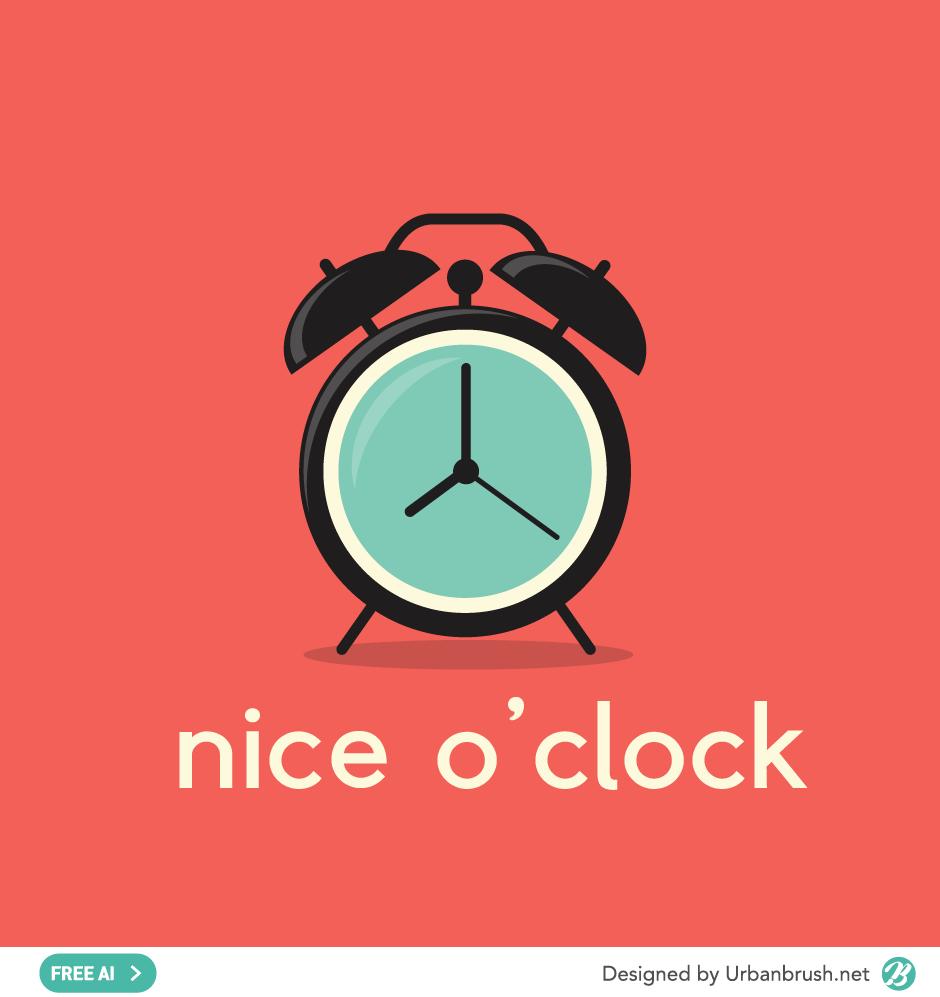 alarm clock ai free illustration vector download
