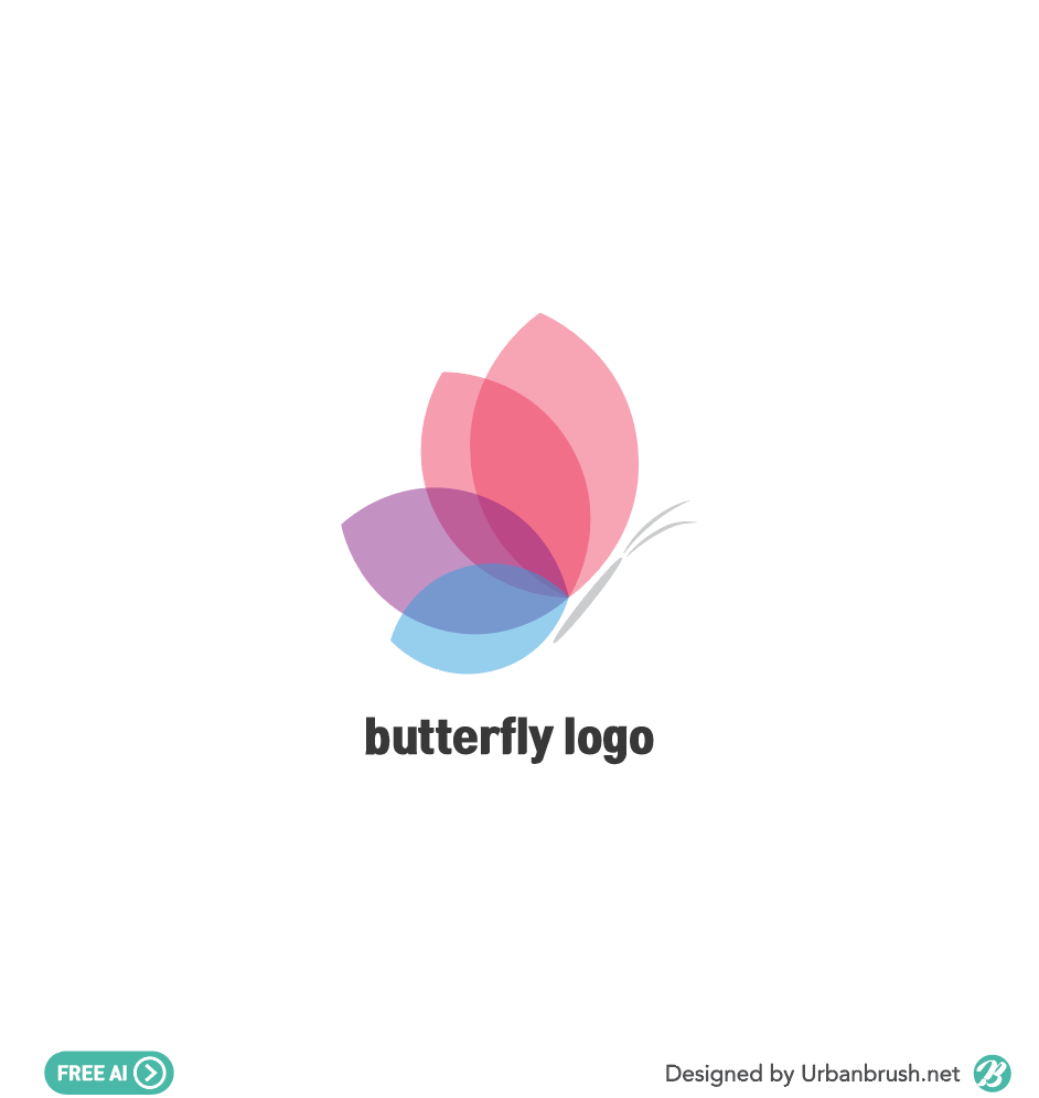 butterfly logo illustration ai free vector download - Urbanbrush