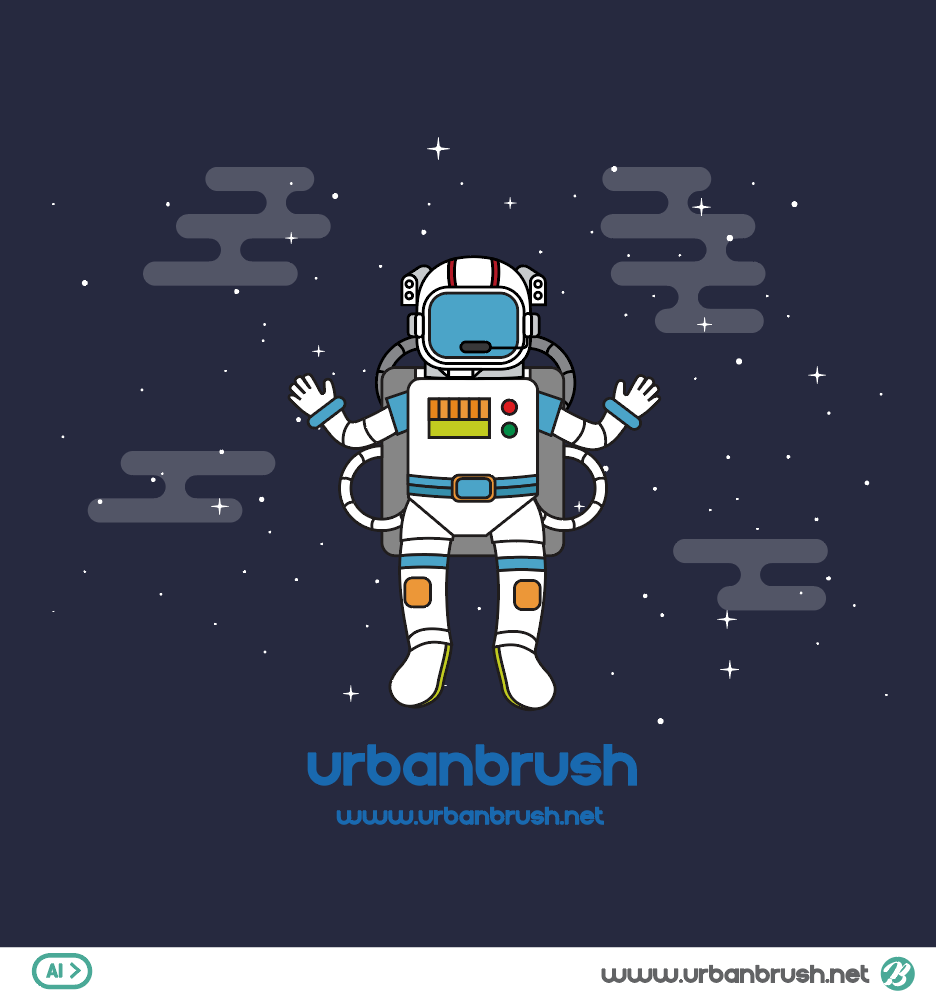 space suit illustration vector file free download , Urbanbrush
