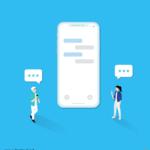 온라인 채팅 일러스트 ai 무료다운로드 free online chatting vector