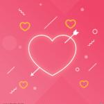 하트화살 일러스트 ai 무료다운로드 free heart arrow vector