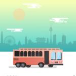 서울버스 일러스트 ai 무료다운로드 free seoul bus illustration