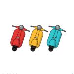 스쿠터 일러스트 ai 무료다운로드 free scooter vector