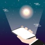 스마트폰 빛 일러스트 ai 무료다운로드 free smartphone light vector