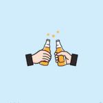 맥주 건배 일러스트 ai 무료다운로드 free beer Cheers vector