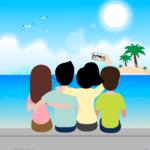 단체셀카 일러스트 ai 무료다운로드 free Group self-camera vector