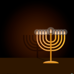 하누카 촛대 일러스트 ai 무료다운로드 free Hanukkah candlestick vector