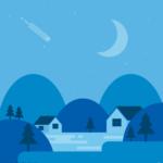밤풍경 일러스트 ai 무료다운로드 free Night landscape vector