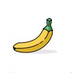 바나나 일러스트 ai 무료다운로드 free banana vector image