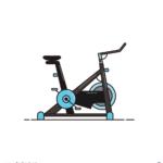 스피닝 자전거 일러스트 ai 무료다운로드 free Spinning bicycle vector