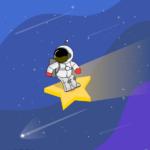 우주인 서핑 일러스트 ai 무료다운로드 free Astronaut surfing vector