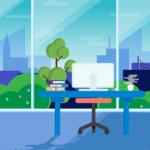 사무실 일러스트 ai 무료다운로드 free office illustration