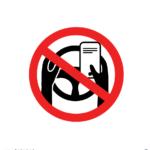 운전중 핸드폰 금지 일러스트 ai 무료다운로드 free Prohibit cell phone while driving