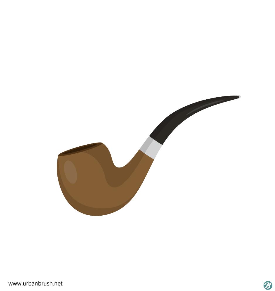 파이프 담배 일러스트 ai 무료다운로드 free Tobacco pipe vector - Urbanbrush