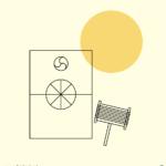 방패연 일러스트 ai 무료다운로드 free Shield kite vector