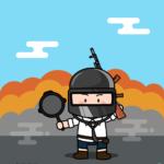 미니 배틀그라운드 일러스트 ai 무료다운로드 Free mini Battle ground vector
