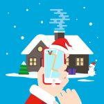산타 길찾기 일러스트 ai 무료다운로드 free Santa Directions vector