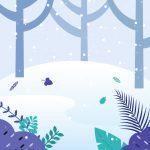 겨울 산속 일러스트 ai 무료다운로드 free winter mountain vector